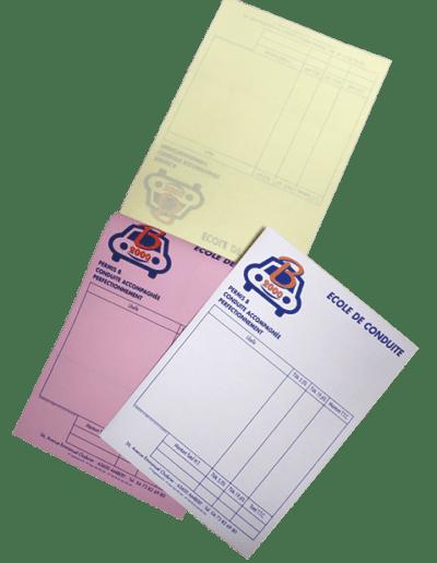 autocopiants-duplicata-triplicata-tous-formats auto ecole b2000 promocyrk promocirque