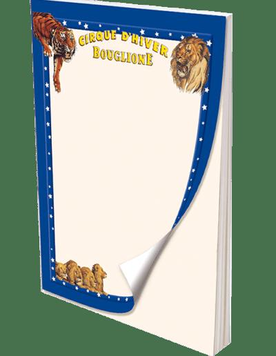 blocs-note-tous-formats-cirque-dhiver-bouglione promocyrk promocirque
