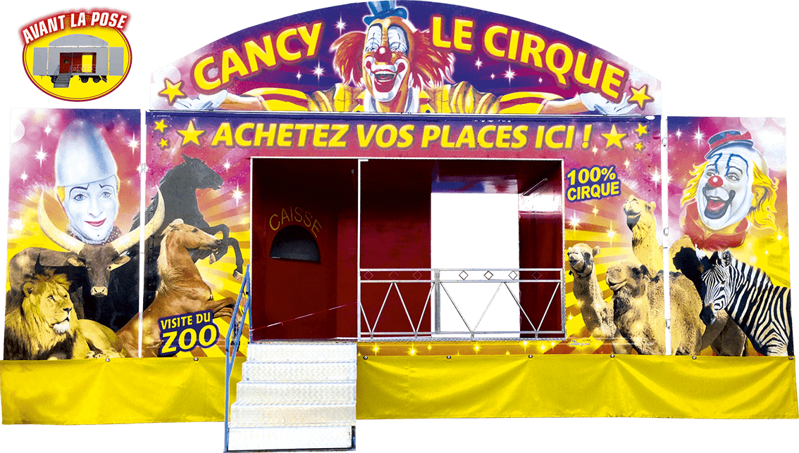 marquages supports divers marquages autocollants véhicules cirque promocyrk promocirk promocirque