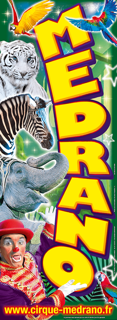 panneaux-carton-fluo-affichage-resistant-60x160-cirque-medrano-la-legende-de-la-jungle promocyrk promocirque