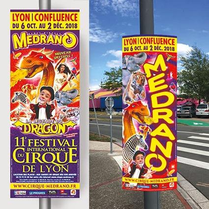 panneaux carton cirque