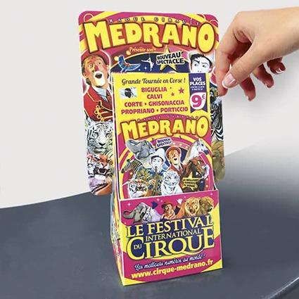 presentoir de comptoir cirque